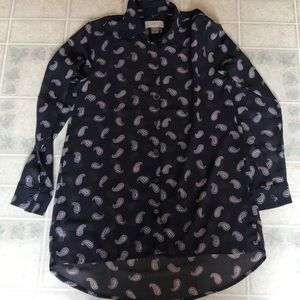 Ann Taylor Lost Outlet Petite Semi Sheer Blouse